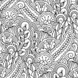 Naadloze zwart-witte achtergrond Royalty-vrije Stock Afbeeldingen