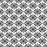 Naadloze zwart-witte achtergrond met decoratieve bloemen Stock Afbeelding