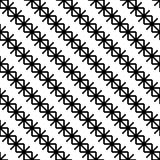 Naadloze zwart-witte achtergrond met decoratieve sneeuwvlokken Vector Illustratie