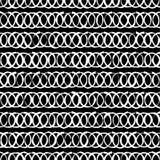 Naadloze zwart-witte decoratieve achtergrond met abstract geometrisch patroon Stock Afbeeldingen