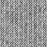Naadloze zwart-witte decoratieve achtergrond met abstract geometrisch patroon Royalty-vrije Stock Afbeeldingen