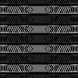 Naadloze zwart-witte decoratieve achtergrond met abstract geometrisch patroon Royalty-vrije Stock Foto
