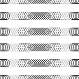 Naadloze zwart-witte decoratieve achtergrond met abstract geometrisch patroon Royalty-vrije Stock Afbeelding