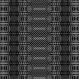 Naadloze zwart-witte decoratieve achtergrond met abstract geometrisch patroon Royalty-vrije Stock Foto's