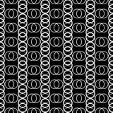 Naadloze zwart-witte decoratieve achtergrond met cirkels Stock Illustratie