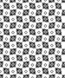 Naadloze zwart-witte decoratieve achtergrond met geometrische vormen Royalty-vrije Illustratie