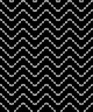 Naadloze zwart-witte decoratieve achtergrond met geometrische vormen Vector Illustratie