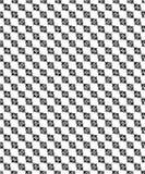 Naadloze zwart-witte decoratieve achtergrond met geometrische vormen Stock Illustratie
