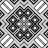Naadloze zwart-witte geometrische achtergrond Royalty-vrije Stock Afbeelding