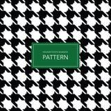 Naadloze Zwart-witte Houndstooth-Achtergrond Retro Geometrisch Patroon voor Kledingsmanier of Uitstekende Textieltextuur Royalty-vrije Stock Foto