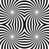Naadloze zwart-witte spiralen Geschikt voor textiel, stof en verpakking Stock Foto's