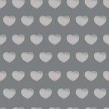 Naadloze zwart-witte textuur met driedimensionele harten Royalty-vrije Stock Foto's