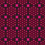Naadloze zwarte achtergrond met rode geometrische vormen royalty-vrije illustratie