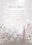 Naadloze zwarte bloemen als achtergrond op de grijze achtergrond Vector illustratie Royalty-vrije Illustratie