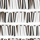Naadloze zwarte boeken op wit patroon als achtergrond Royalty-vrije Stock Foto