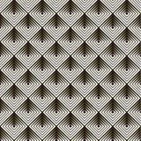 Naadloze zwarte - wit geometrisch patroon Stock Foto