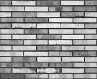 Naadloze zwarte witte van het muurpatroon textuur als achtergrond Naadloze bakstenen muurachtergrond Architecturaal naadloos baks Stock Fotografie