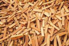 Naai houten schroot Royalty-vrije Stock Foto