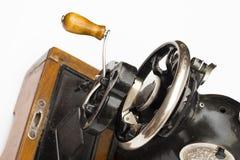Naaien-machine op de witte achtergrond stock afbeelding
