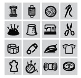 Naaiend materiaalpictogram Stock Afbeeldingen