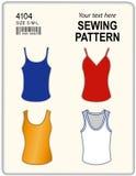 Naaiend Patroon, Mouwloos onderhemden Royalty-vrije Stock Foto