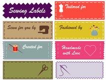 Naaiende Etiketten, Kleuren Pantone Royalty-vrije Stock Afbeelding