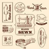 Naaiende Geplaatste Emblemen Royalty-vrije Stock Afbeelding