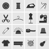 Naaiende pictogrammen Stock Afbeeldingen