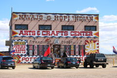 Naajo & Hopi Indian Store Royaltyfri Bild