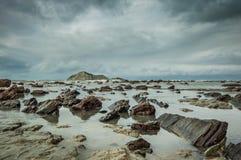 Naakt Eiland (motu-o-Kura) De Baai van Hawke Ergens in Nieuw Zeeland stock afbeeldingen
