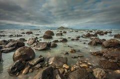 Naakt Eiland (motu-o-Kura) De Baai van Hawke Ergens in Nieuw Zeeland royalty-vrije stock afbeelding