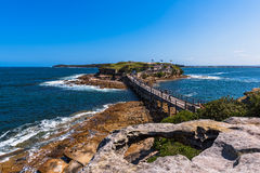 Naakt Eilandvestingwerk in La Perouse Sydney Australia Royalty-vrije Stock Foto's
