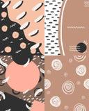 Naakt patroon met malplaatje voor tekst royalty-vrije illustratie
