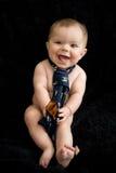 Naakte Baby in band Royalty-vrije Stock Fotografie
