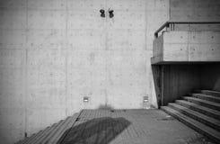 Naakte concrete architectuur royalty-vrije stock afbeeldingen
