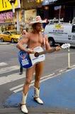 Naakte Cowboy stock foto