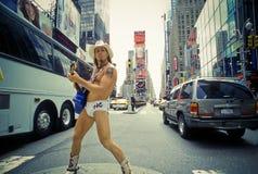 Naakte Cowboy, de Zaken van de Dollar 7_13 Royalty-vrije Stock Fotografie