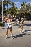 Naakte cowboy in het Strand van Miami royalty-vrije stock fotografie