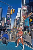 Naakte Cowboy - Times Square Stock Afbeelding