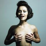 Naakte elegante vrouw Stock Fotografie