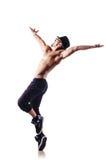 Naakte geïsoleerden danser Stock Afbeeldingen