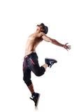 Naakte geïsoleerdeo danser Stock Foto