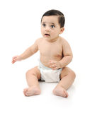 Naakte leuke geïsoleerdeg baby Royalty-vrije Stock Fotografie