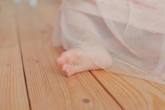 Naakte voet van een jong kind Royalty-vrije Stock Afbeeldingen
