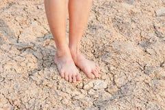Naakte voeten Stock Afbeelding