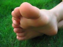Naakte voeten Stock Foto's