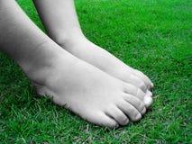 Naakte voeten Stock Fotografie