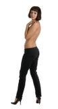 Naakte vrouwen in jeans Stock Fotografie