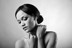 Naakte zwart-wit schoonheid Royalty-vrije Stock Afbeeldingen