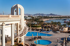 Naama Bay dans le Sharm el Sheikh, Egypte Photo stock